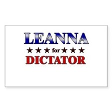 LEANNA for dictator Rectangle Decal