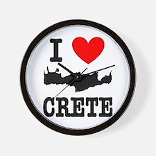 I love Crete Wall Clock