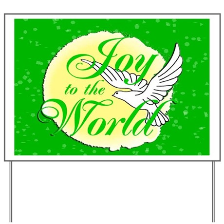Holiday Decorations Joy to the World Yard Sign