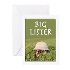 Big Lister GREETING CARDS (10)