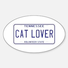 Tennessee Cat Lover Oval Decal