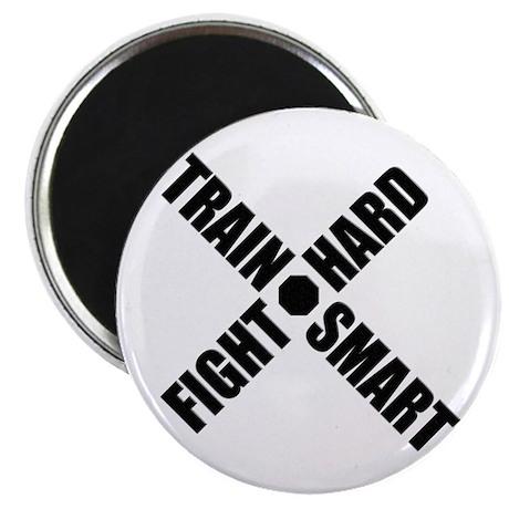"Train Smart, Fight Hard 2.25"" Magnet (10 pack)"