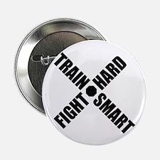 "Train Smart, Fight Hard 2.25"" Button (10 pack)"