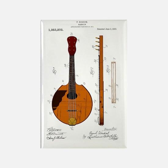 Mandolin Patent Rectangle Magnet