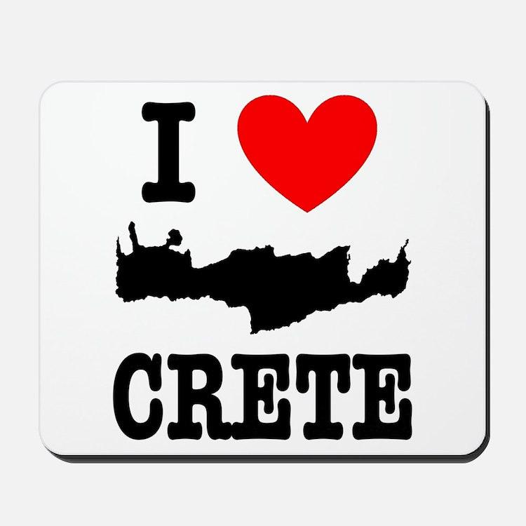 I love Crete Mousepad