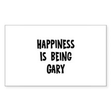 Happiness is being Gary Rectangle Decal
