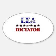 LEA for dictator Oval Decal