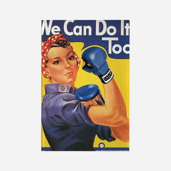 Emma May ( Rosie the Riveter ) Rectangle Magnet (1