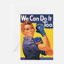 Emma May ( Rosie the Riveter ) Greeting Card