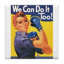 Emma May ( Rosie the Riveter ) Tile Coaster
