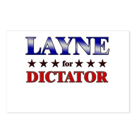 LAYNE for dictator Postcards (Package of 8)