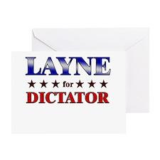 LAYNE for dictator Greeting Card