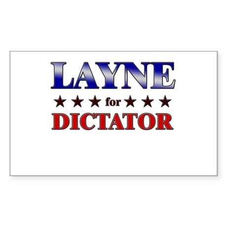 LAYNE for dictator Rectangle Sticker