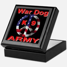 War Dog K9 Army Keepsake Box