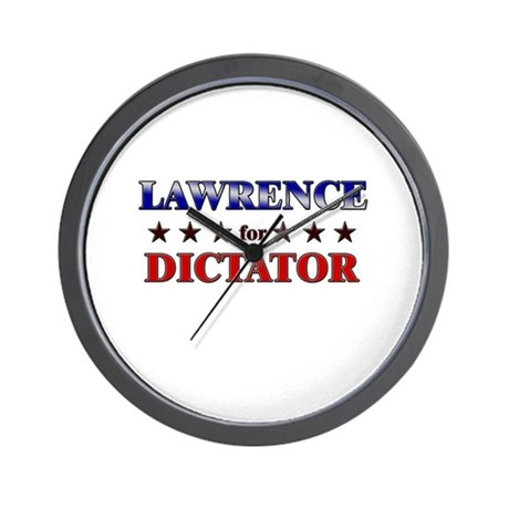 LAWRENCE for dictator Wall Clock