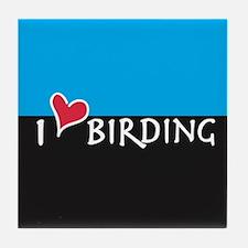 I Love Birding Tile Coaster