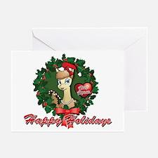 Alice Alpaca Happy Holidays Greeting Cards (Pk of