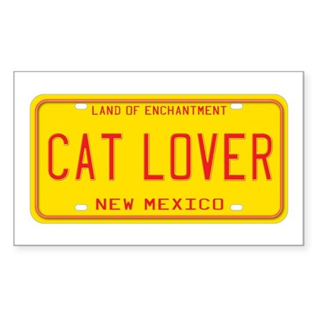 New Mexico Cat Lover Rectangle Sticker