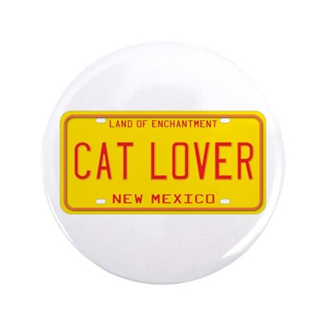 """New Mexico Cat Lover 3.5"""" Button (100 pack)"""