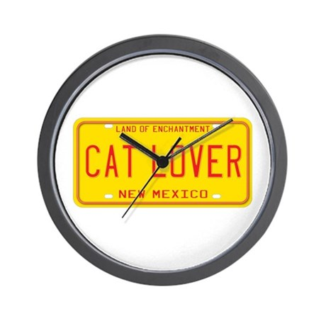 New Mexico Cat Lover Wall Clock