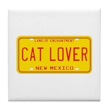 New Mexico Cat Lover Tile Coaster