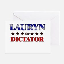 LAURYN for dictator Greeting Card