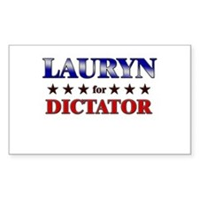 LAURYN for dictator Rectangle Decal