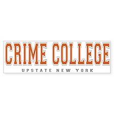 ThePulp.Net Crime College Bumper Car Sticker