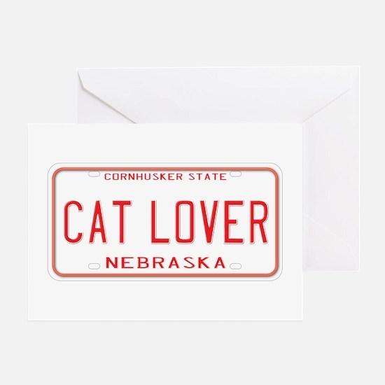Nebraska Cat Lover Greeting Card