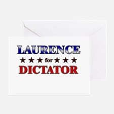 LAURENCE for dictator Greeting Card