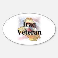 Iraq Veterans Oval Decal
