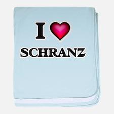I Love SCHRANZ baby blanket