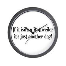Not a Rottweiler Wall Clock