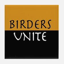 Birders Unite Yellow Tile Coaster