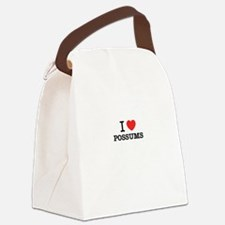 I Love POSSUMS Canvas Lunch Bag
