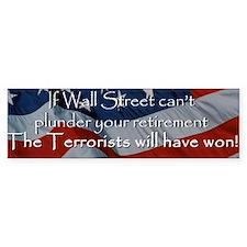 Wall Street plunder Bumper Bumper Sticker