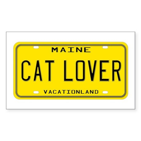 Maine Cat Lover Rectangle Sticker