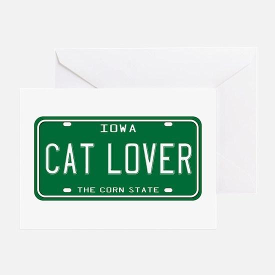 Iowa Cat Lover Greeting Card
