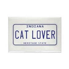 Indiana Cat Lover Rectangle Magnet