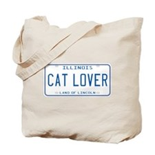Illinois Cat Lover Tote Bag