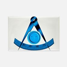 Blue Lodge Past Master Rectangle Magnet
