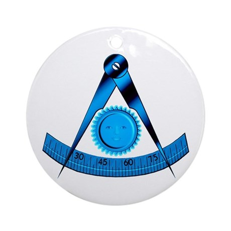 Blue Lodge Past Master Ornament (Round)