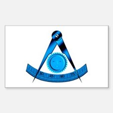 Blue Lodge Past Master Rectangle Decal