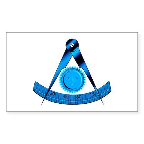 Blue Lodge Past Master Rectangle Sticker