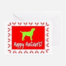 Happy Holidays Labrador Greeting Cards (Pk of 10)