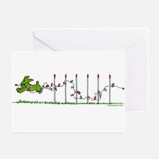 Agility Christmas Lights Greeting Card