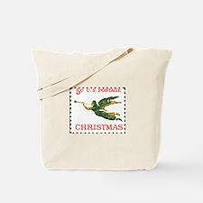 Funny Christmas stamp Tote Bag