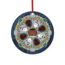 Winter Nouveau Ornament (Round)