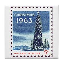 Cool Christmas stamp Tile Coaster