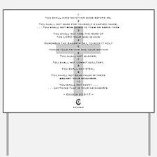 10 Commandments - Yard Sign